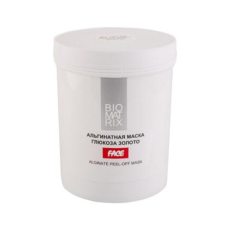 BIOMATRIX Маска Альгинатная пластифицирующая для лица ГЛЮКОЗА ЗОЛОТО  200г Франция