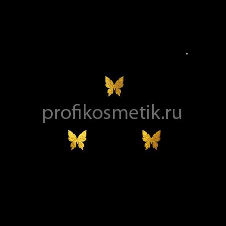 Временная татуировка 3 маленькие Бабочки Золотые Gold Sin, размер 3,3X1,5см, Италия