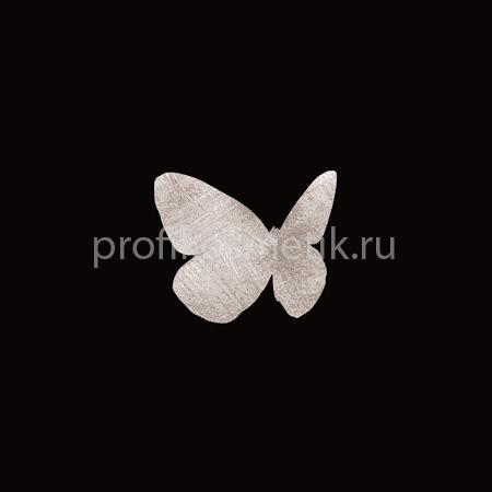 Временная татуировка Бабочка Menelaus Серебряная Silver Sin, размер 3X3см, Италия