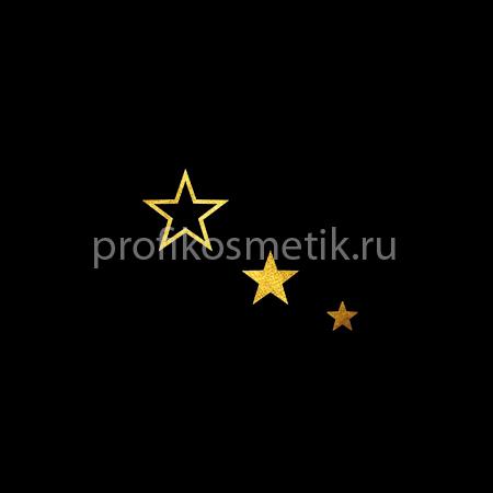 Временная татуировка 3 звезды Fantasy Золотая Gold Sin, размер 3,3 X 2см, Италия