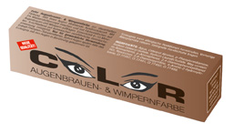 """Краска для бровей и ресниц """"COLOR"""", 15 мл (коричневый)"""
