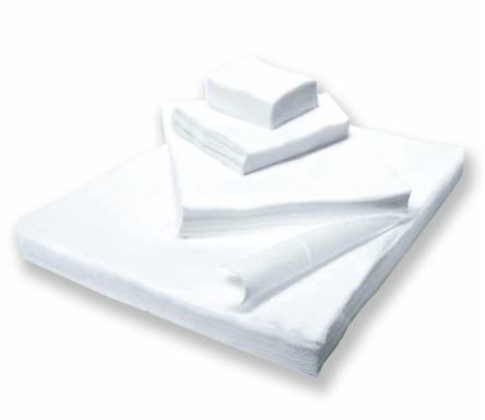 Салфетка спанлейс белый 5х5 см 100 шт/уп, Чистовье Россия