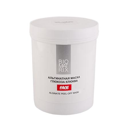BIOMATRIX Маска Альгинатная пластифицирующая для лица ГЛЮКОЗА КЛЮКВА 200г Франция
