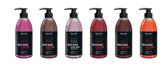 OLLIN MATISSE COLOR Тонизирующая маска ГРАНАТ 300мл