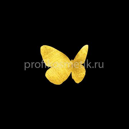 Временная татуировка Бабочка Menelaus Золотая Gold Sin, размер 3X3см, Италия