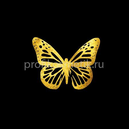 Временная татуировка Бабочка Leuconoe Золотая Gold Sin, размер 5X3,5см, Италия