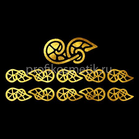 Временная татуировка Браслет Макрамэ Romantic Drops Золотая Gold Sin, размер 10X3см, Италия