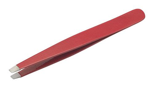 Пинцет скошенный Красный Metzger