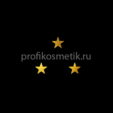 Временная татуировка 3 звезды Золотая Gold Sin, размер 3,3 X 1,5см, Италия