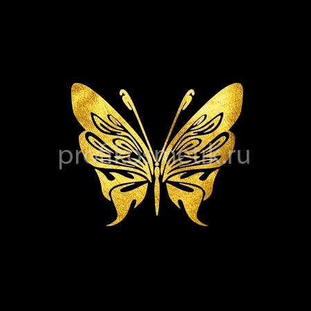 Временная татуировка Бабочка Фея Fairy Золотая Gold Sin, размер 5X5см, Италия