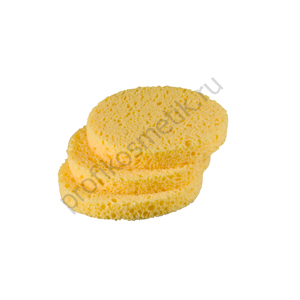 Губки Желтые Круглые  из Целлюлозы-средние 3шт. Bellitas(Англия)