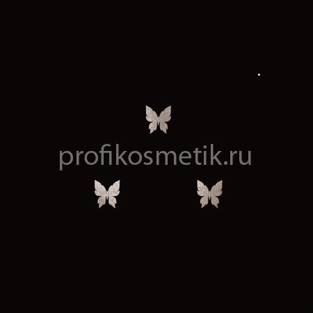Временная татуировка 3 маленькие Бабочки Серебряные Silver Sin, размер 3,3X1,5см, Италия
