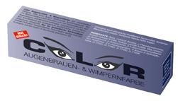 """Краска для бровей и ресниц """"COLOR"""", 15 мл (иссиня-черная)"""