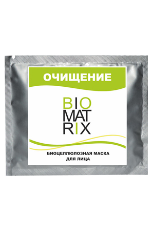 Биоцеллюлозная маска ОЧИЩЕНИЕ ЛИЦО, Biomatrix, пакетик 8г