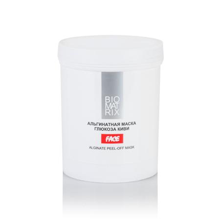 BIOMATRIX Маска Альгинатная пластифицирующая для лица ГЛЮКОЗА КИВИ 200г Франция